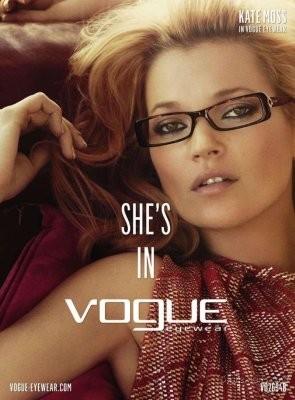 Кейт Мосс в рекламной кампании Vogue Eyewear. Изображение № 41.