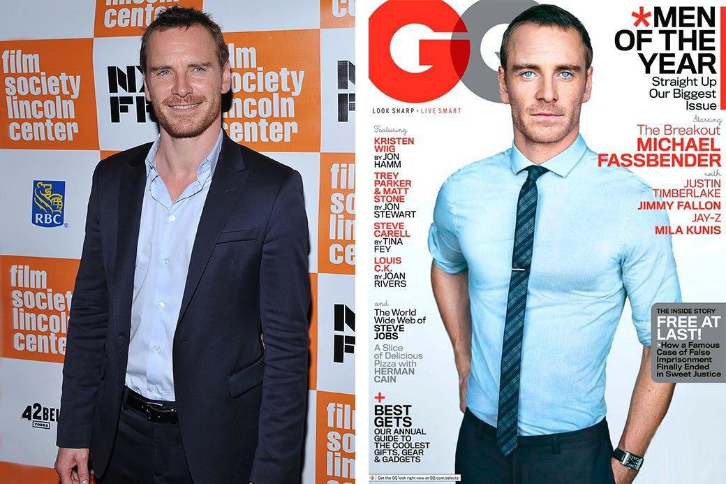 Нереально красивые: Знаменитые мужчины  до и после фотошопа. Изображение № 2.