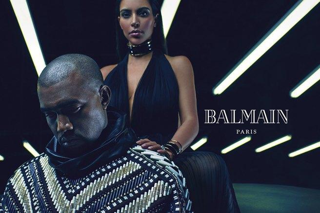 Страстные и роскошные: Ким и Канье украсили собой рекламу Balmain. Изображение № 4.