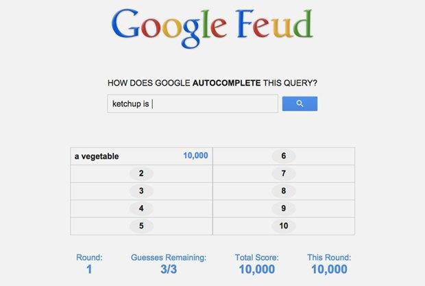 «Google Feud»: викторина  по популярным поисковым запросам. Изображение № 2.