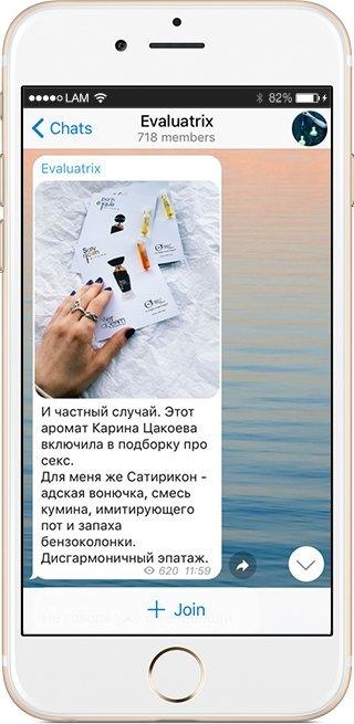 На кого подписаться: Телеграм-канал о тайнах ароматов Evaluatrix. Изображение № 5.