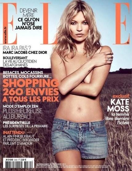 Кейт Мосс на обложке французского Elle, сентябрь 2011. Изображение № 12.