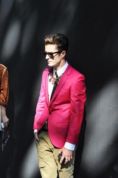 Анна Делло Руссо, Брайан Бой и другие перед показом Gucci SS 2012. Изображение № 9.