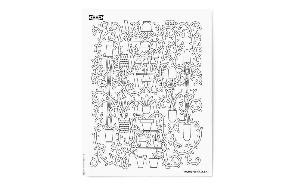 Раскраска для тех, кто очень любит IKEA. Изображение № 3.