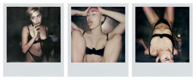 Майли Сайрус показала откровенные личные полароиды в V Magazine. Изображение № 7.