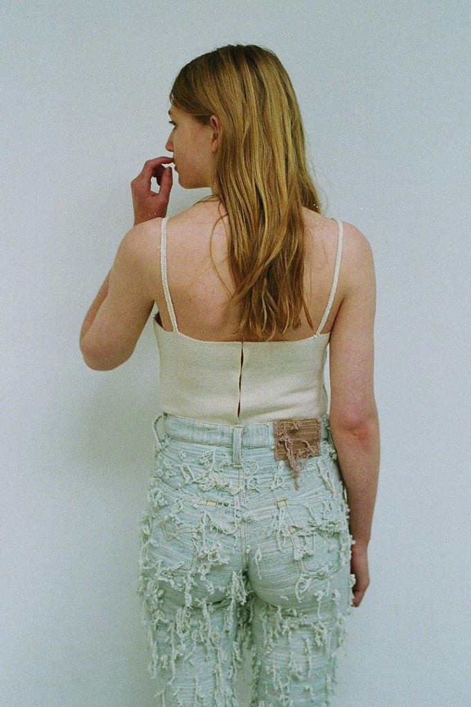 Джинсы цвета мяты и махровые куртки в лукбуке Faustine Steinmetz. Изображение № 7.