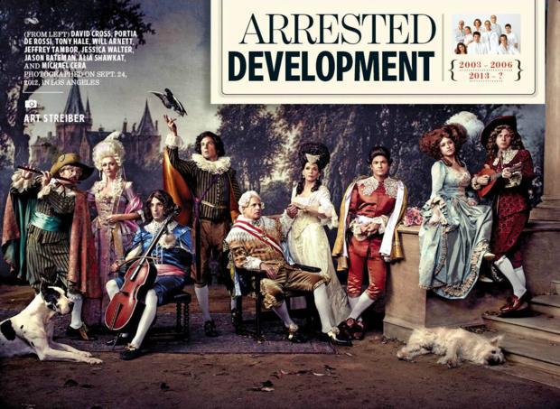Разворот журнала Entertainment Weekly, посвященный возвращению сериала «Задержка в развитии». Изображение № 3.
