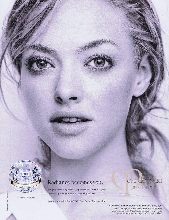 Аманда Сейфрид в рекламе Clé de Peau Beauté. Изображение № 1.