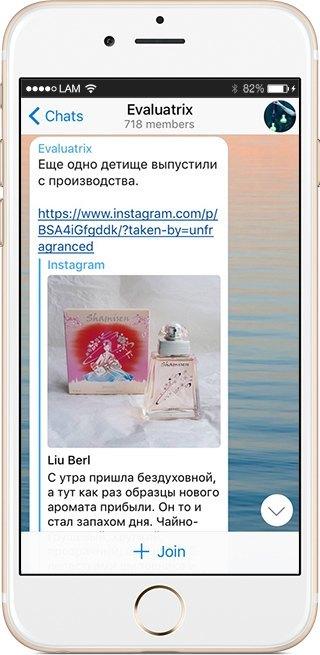 На кого подписаться: Телеграм-канал о тайнах ароматов Evaluatrix. Изображение № 2.