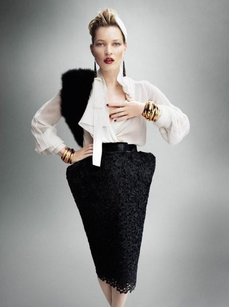 Кейт Мосс в британском Vogue, сентябрь 2011. Изображение № 36.