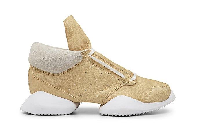 Кожаные и нейлоновые кроссовки Рика Оуэнса для adidas. Изображение № 2.