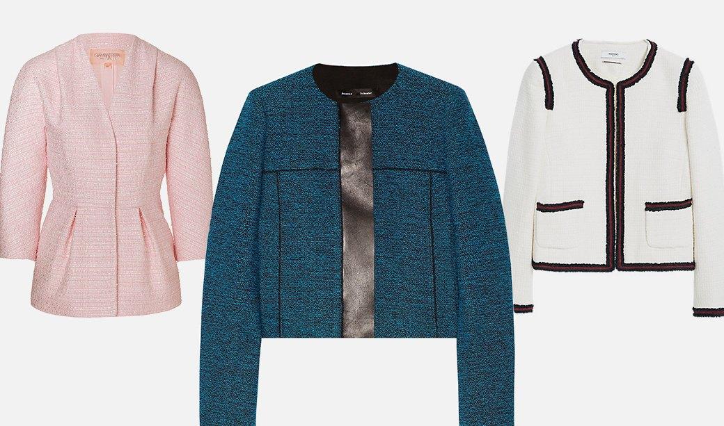 Что носить осенью: Пальто, платья, обувь и другие актуальные вещи из твида. Изображение № 6.
