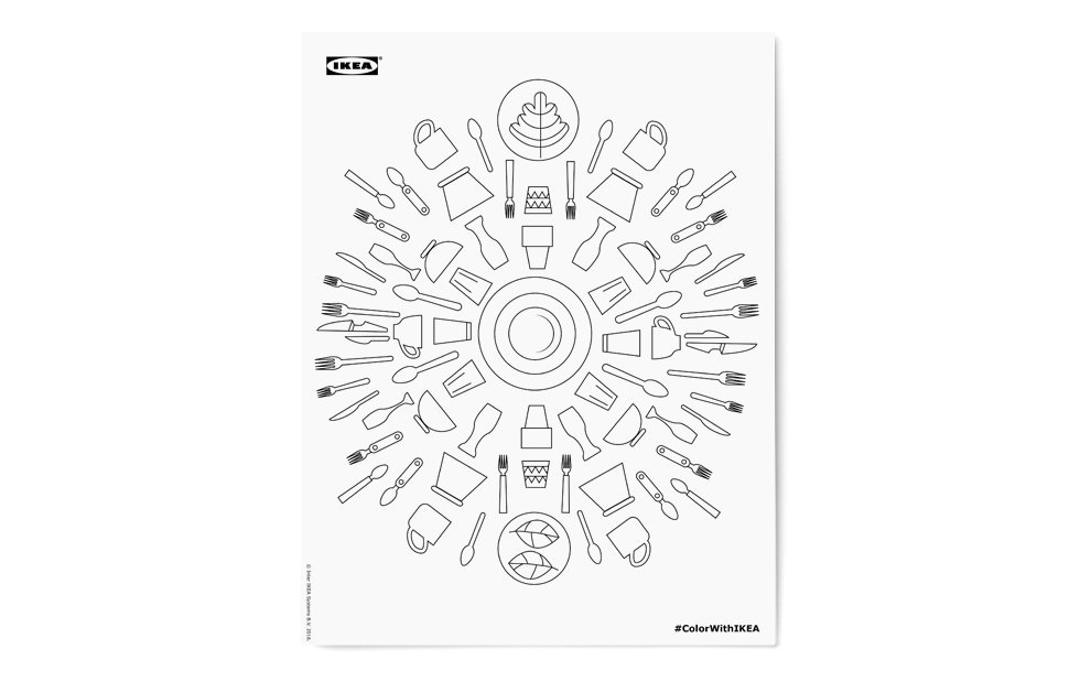 Раскраска для тех, кто очень любит IKEA. Изображение № 5.