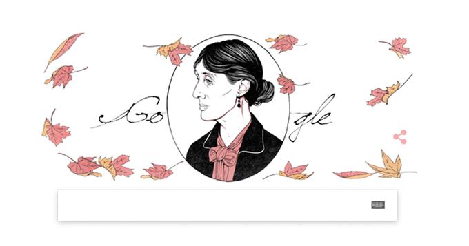 Героиней дудла Google стала Вирджиния Вулф. Изображение № 1.