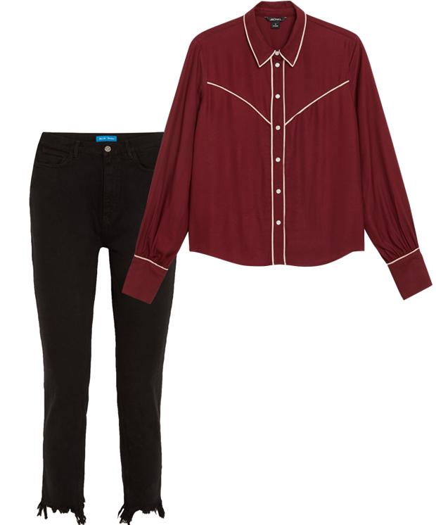 Комбо: Ковбойская рубашка c джинсами. Изображение № 2.