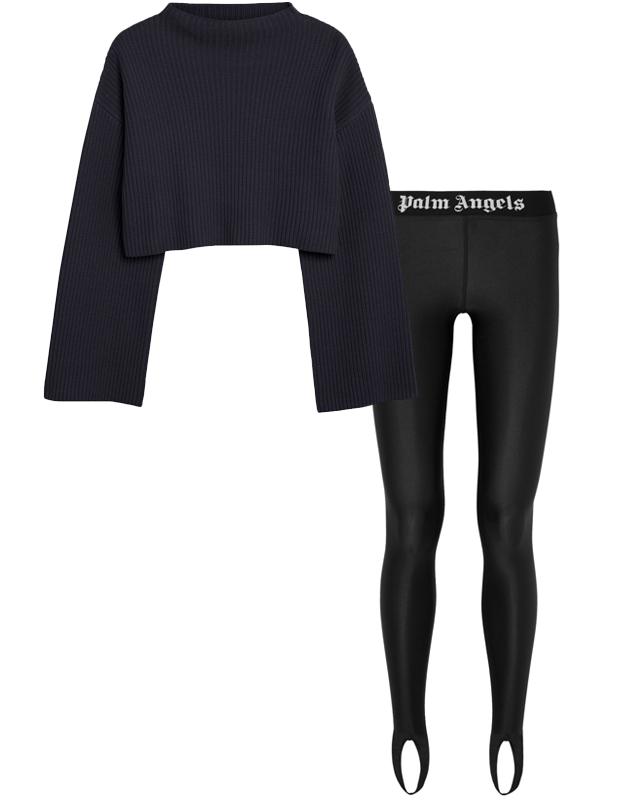 Комбо: Объёмный свитер c брюками со штрипками. Изображение № 2.