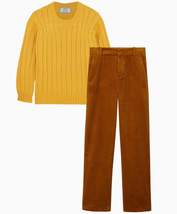 Комбо: Вельветовые брюки с шерстяным свитером. Изображение № 3.