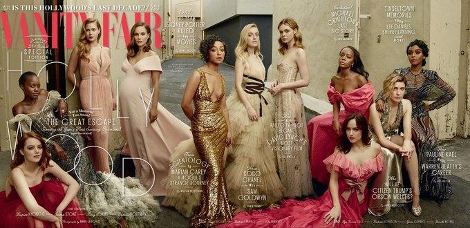 10 голливудских актрис снялись для обложки Vanity Fair. Изображение № 1.