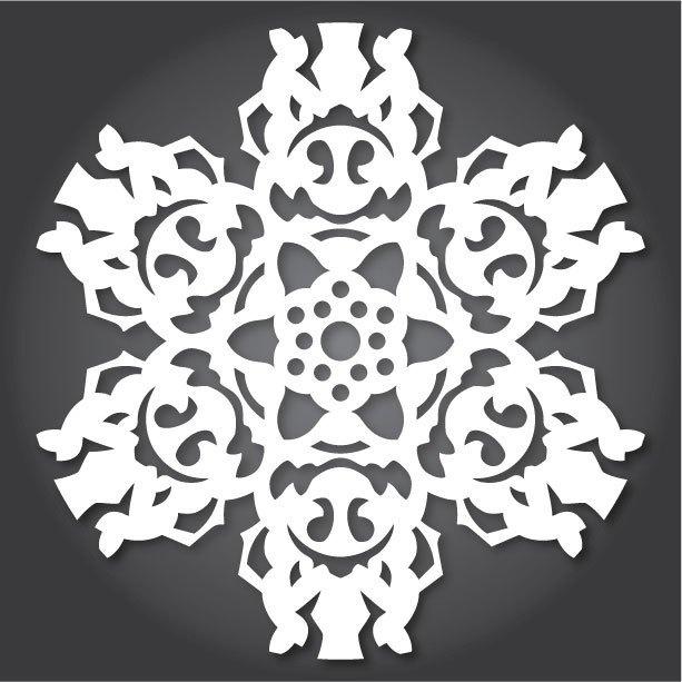Снежинки с героями «Звездных войн» можно скачать и распечатать. Изображение № 10.