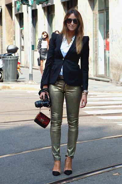Milan Fashion Week: Уличный стиль, день 5. Изображение № 6.