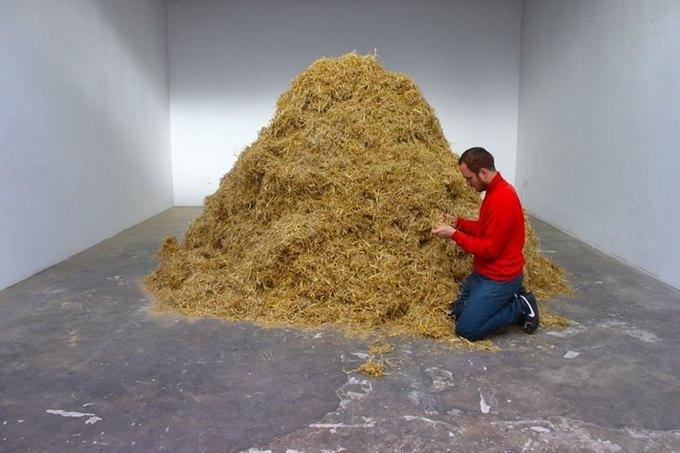 Итальянский художник решил найти иголку в стогу сена. Изображение № 1.