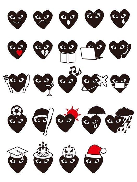 Comme des Garçons выпустили набор эмодзи. Изображение № 1.