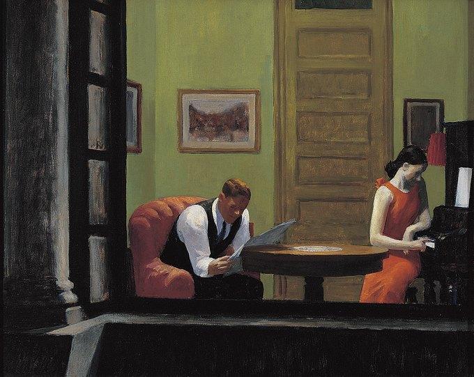 Эдвард Хоппер Room in New York, 1932.. Изображение № 5.