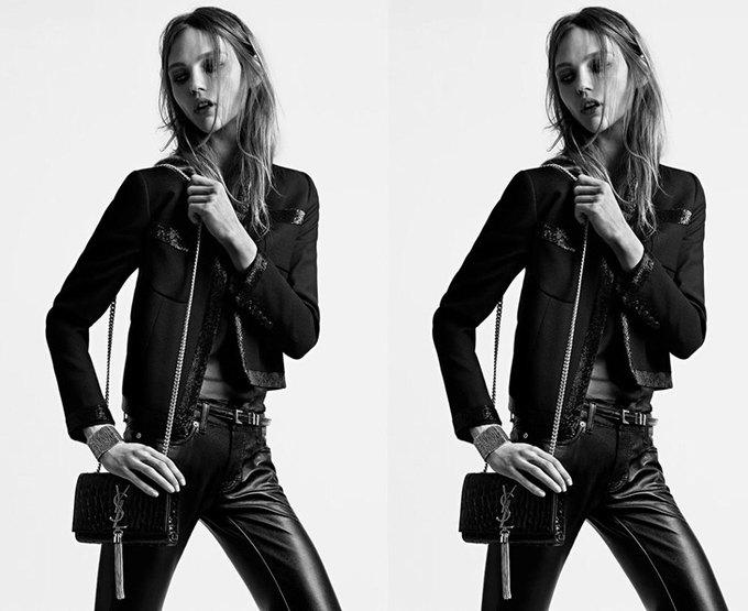 Саша Пивоварова снялась для кампании Saint Laurent. Изображение № 5.