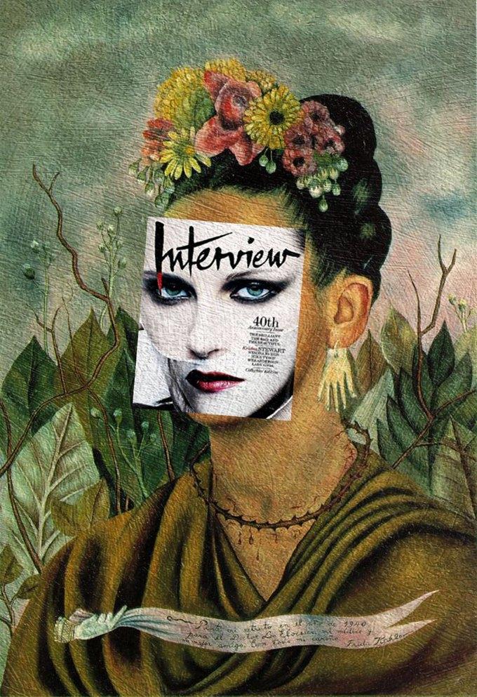Mag + Art: Коллажи из глянца и живописи. Изображение № 4.