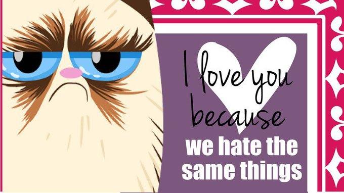 Grumpy Cat стала героиней угрюмых валентинок. Изображение № 1.