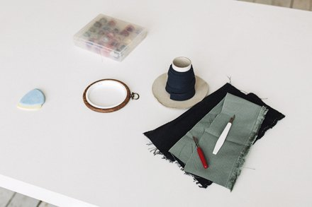 Дизайнер одежды Катя Яэмурд у себя в студии. Изображение № 10.