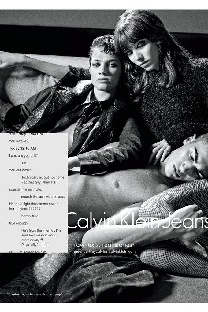 Calvin Klein посвятили рекламу онлайн-знакомствам и секстингу. Изображение № 1.