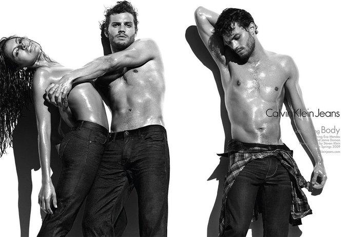 Джейми Дорнан в рекламе Calvin Klein. Изображение № 1.