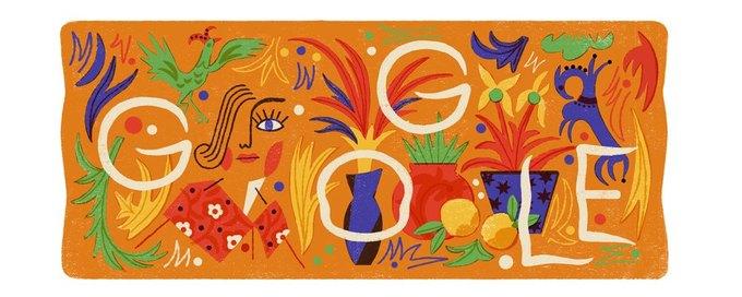 Google посвятил дудл художнице Наталье Гончаровой. Изображение № 1.