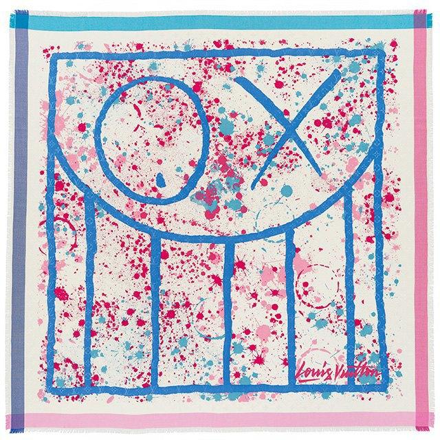 Стрит-арт-художники создали принты для платков Louis Vuitton. Изображение № 1.