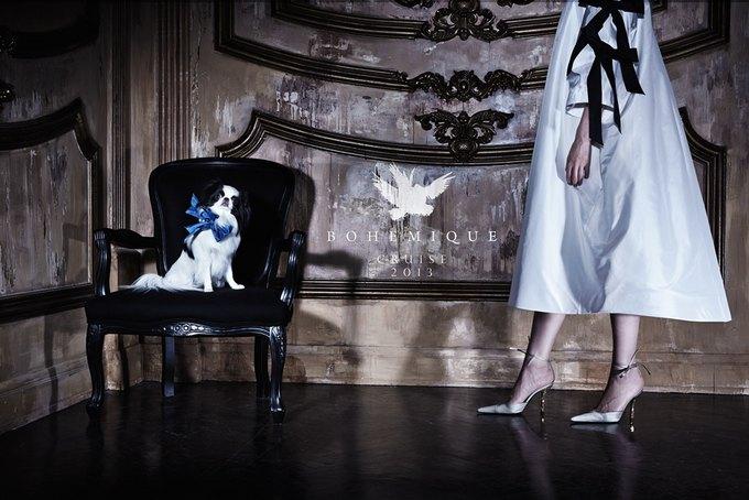 Саша Лусс с собачкой в новом лукбуке Bohemique. Изображение № 1.