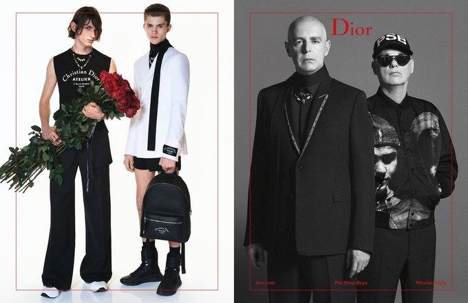 Участники Pet Shop Boys снялись в новой кампании Dior Homme. Изображение № 1.