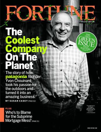Основатель Patagonia Ивон Шуинар на обложке журнала Fortune. Изображение № 15.