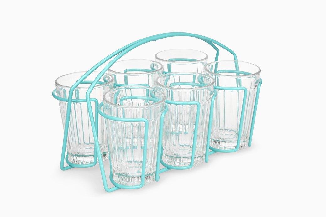 Набор из 6 граненых стаканов с держателем, Laura Ashley, £18. Изображение № 16.