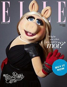 Мисс Пигги появилась на обложке британского ELLE. Изображение № 1.
