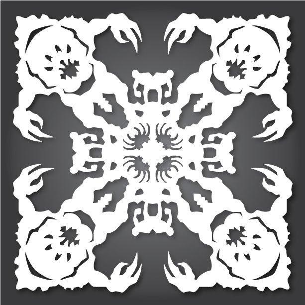 Снежинки с героями «Звездных войн» можно скачать и распечатать. Изображение № 7.