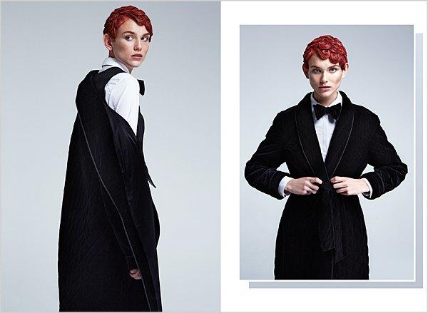 Костюмы в мужском стиле и пальто-халаты в лукбуке Oksana On & Trends Brands. Изображение № 6.