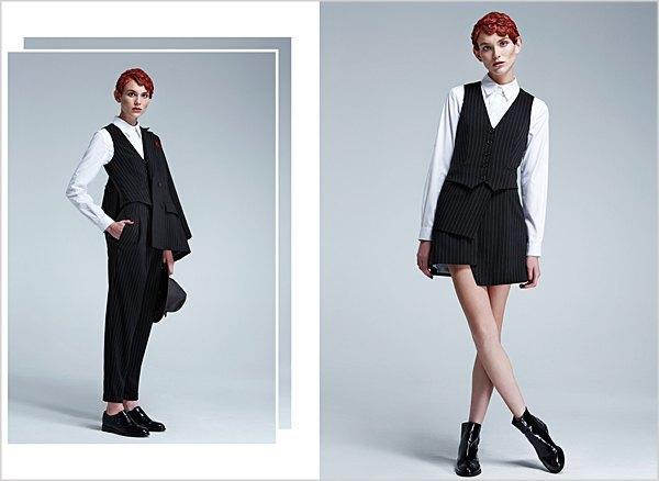 Костюмы в мужском стиле и пальто-халаты в лукбуке Oksana On & Trends Brands. Изображение № 5.