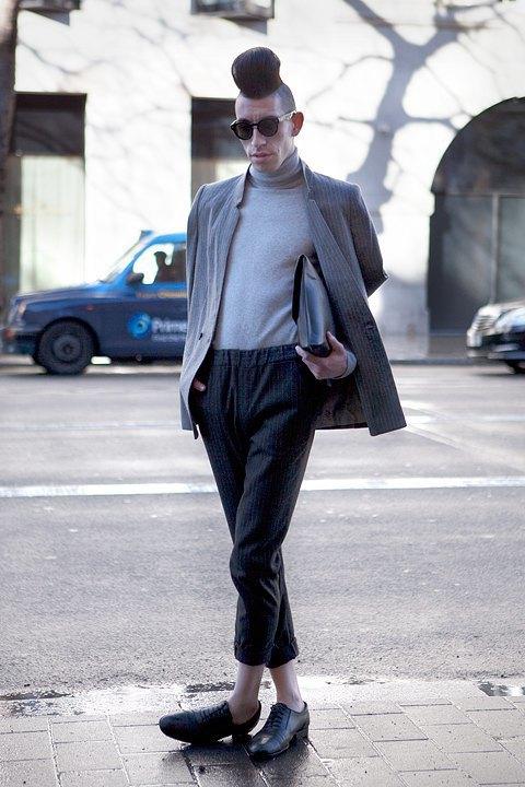 Стритстайл:  Что носят гости  London Fashion Week. Изображение № 18.