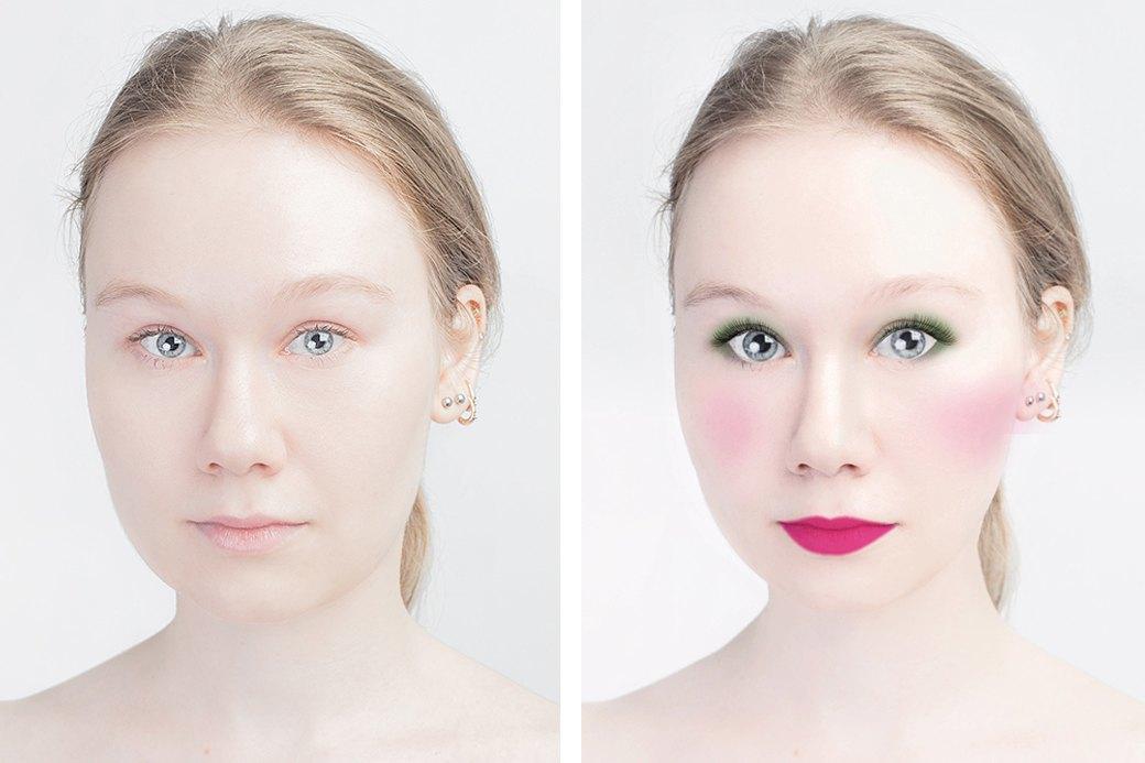 До и после макияжа:  Редакция тестирует  бьюти-приложения. Изображение № 6.