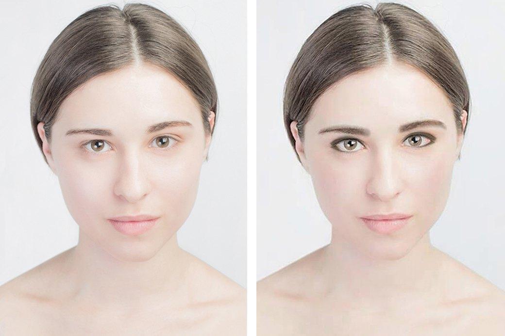 До и после макияжа:  Редакция тестирует  бьюти-приложения. Изображение № 14.