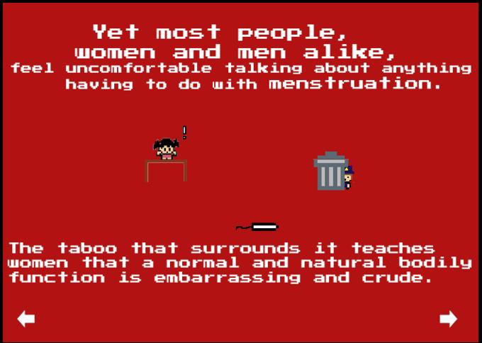 Старшеклассницы сделали видеоигру-шутер про тампоны. Изображение № 1.