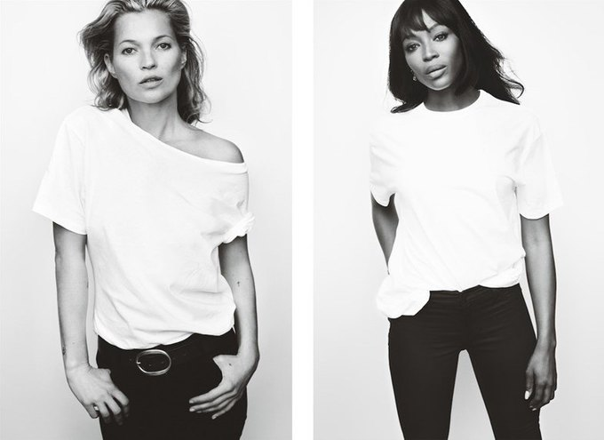 Наоми Кэмпбелл и Кейт Мосс снялись в кампании против рака груди. Изображение № 1.