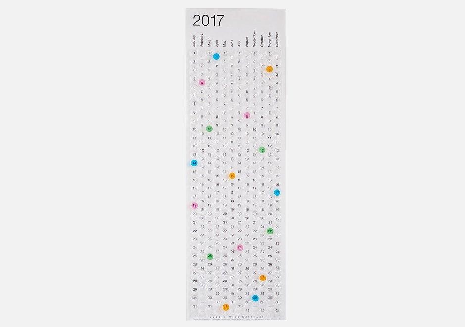 Пузырчатый календарь на 2017 год для снятия стресса. Изображение № 1.