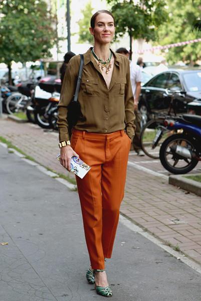 Milan Fashion Week: Уличный стиль, день 3. Изображение № 6.